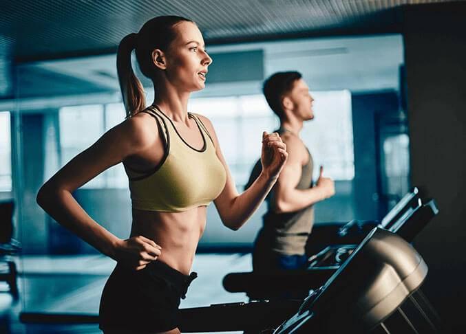 treadmill consuming fat