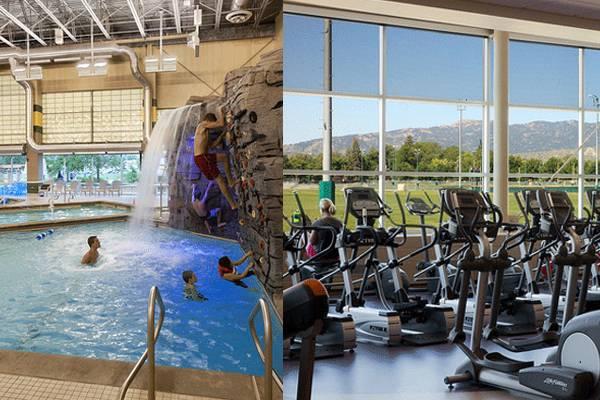 美国大学健身房图片
