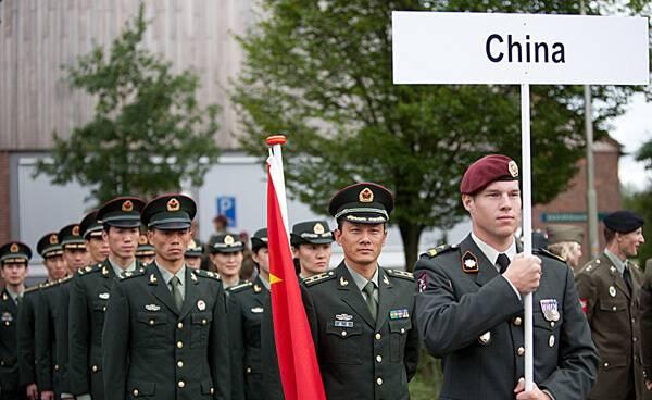 中国军人参加军事五项世界锦标赛