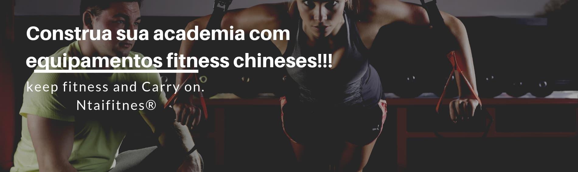 Construa sua academia com equipamentos fitness chineses!!!